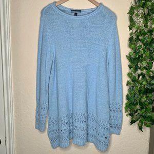 LaneBryant plus size blue fuzzy sweater knit 18/20